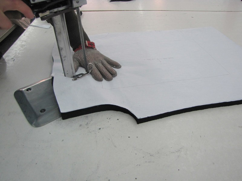 Cutting process in garment industry