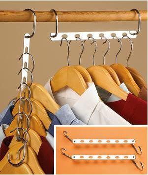 Steel multihanger for organizing hangers